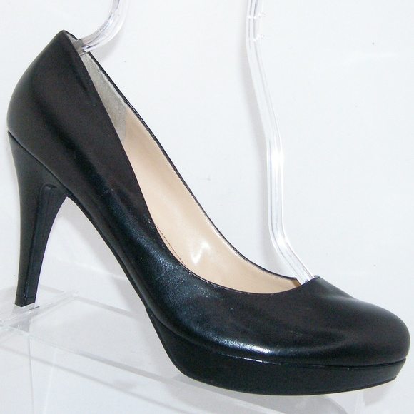 Marc Fisher Sydney Black Leather Heels